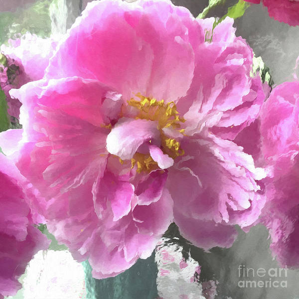 Wall Art - Digital Art - Ethereal Pink Impressionistic Watercolor Peony - Pink Watercolor Impressionistic Pink Peonies Floral by Kathy Fornal