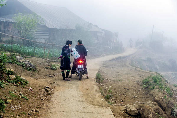 Wall Art - Photograph - Ethnic Minority On The Road In Sapa, Vietnam by Madeline Ellis
