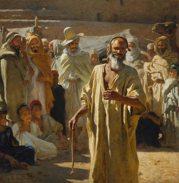 Fife Painting - Etienne Dinet - The Snake Charmer by Celestial Images