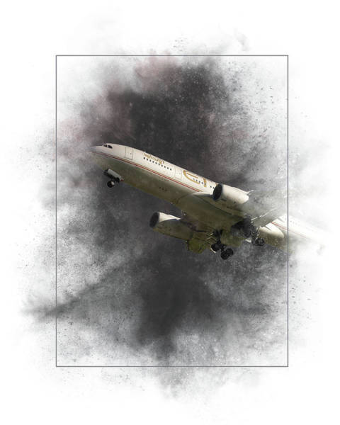 Wall Art - Mixed Media - Etihad Airways Airbus A330-243 Painting by Smart Aviation