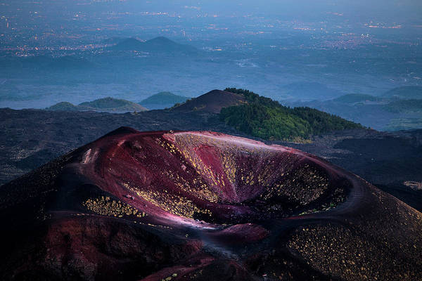 Wall Art - Photograph - Etna Colorful Crater by Ruben Vicente