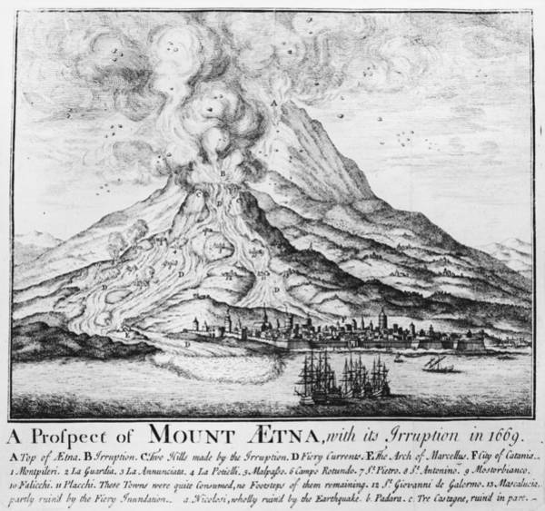 Sicily Photograph - Etna Erupts by Hulton Archive