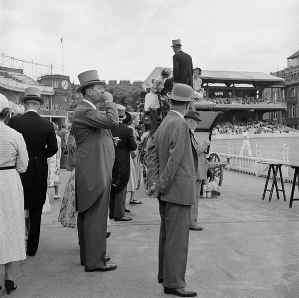 Top Hat Photograph - Eton V Harrow by Slim Aarons