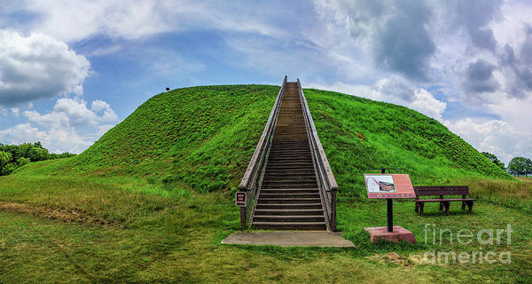Photograph - Etowah Indian Mounds - Cartersville by Nick Zelinsky