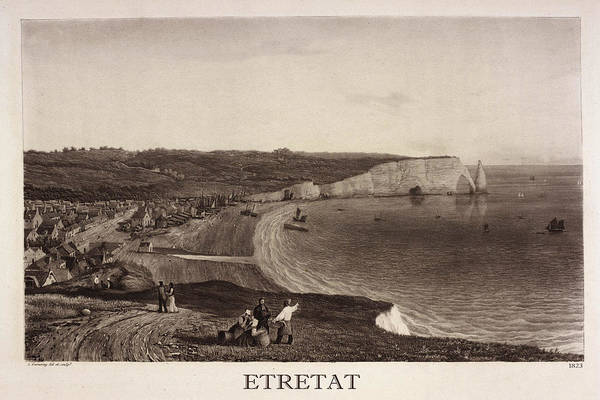 Photograph - Etretat 1823 by Andrew Fare