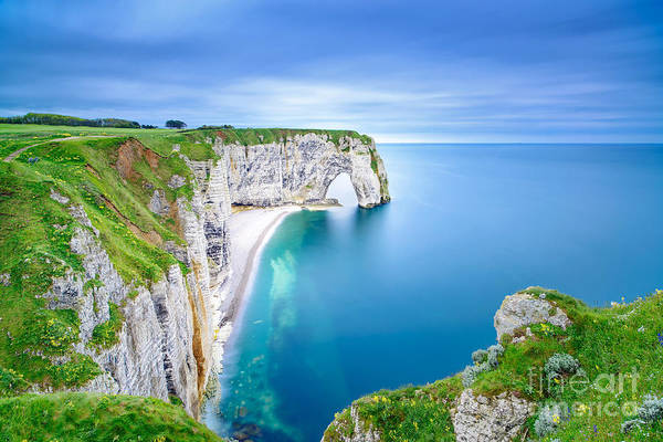 Wall Art - Photograph - Etretat, La Manneporte Natural Rock by Stevanzz