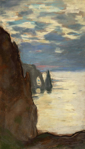 Wall Art - Painting - Etretat, The Needle Rock And Porte D'aval, The Cap D'antifer, Cliffs At Etretat, 1885 by Claude Monet