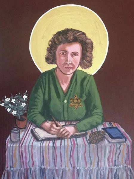Painting - Etty Hillesum by Kelly Latimore