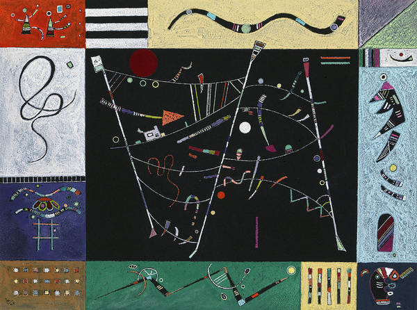 Wall Art - Painting - Etude Pour  L'ensemble by Wassily Kandinsky