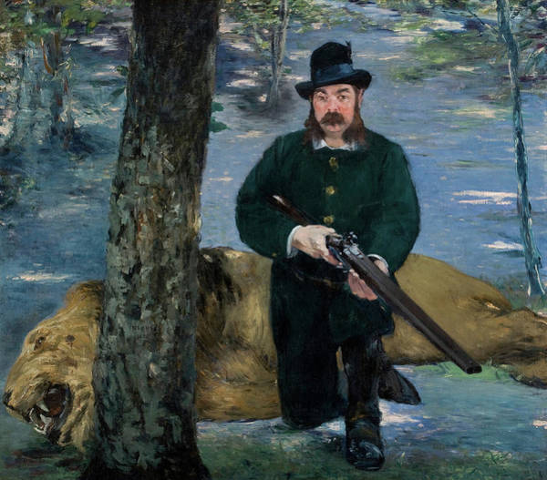 Wall Art - Painting - Eugene Petuiset, The Lion Hunter, 1881 by Edouard Manet