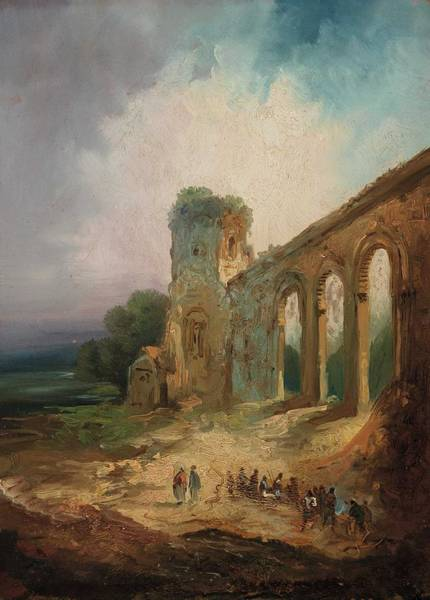 Wall Art - Painting - Eugenio Lucas Velazquez Ruins by Eugenio Lucas