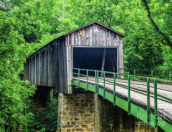 Photograph - Euharlee Creek Covered Bridge by Nick Zelinsky