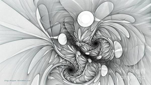 Digital Art - Euphoria Black And White by Doug Morgan