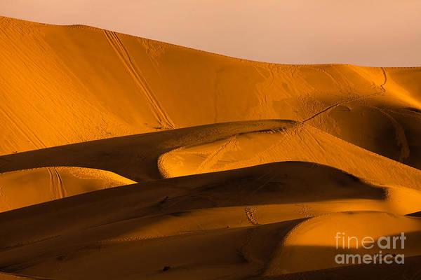 Eureka Dunes Area, Death Valley Art Print
