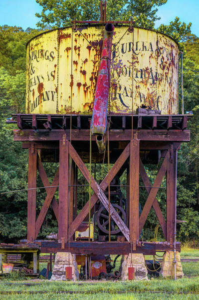 Wall Art - Photograph - Eureka Springs Railway Water Tower by Gregory Ballos