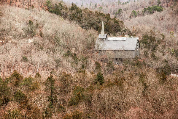 Eureka Springs Photograph - Eureka Springs Thorncrown Worship Center Mountain Landscape by Gregory Ballos