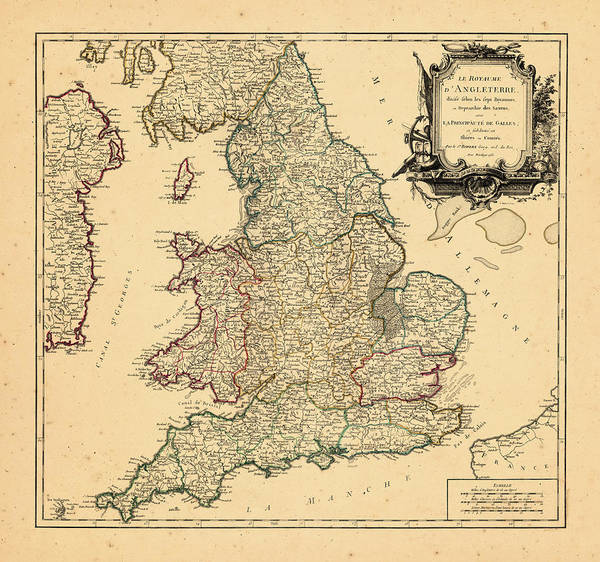 Europe Map Digital Art - Europe, United Kingdom, 1753 by Historic Map Works Llc And Osher Map Library