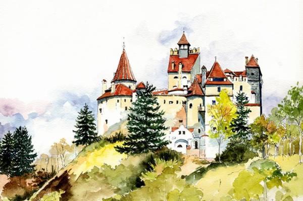 Mansion Wall Art - Painting - European Castle 2 by ArtMarketJapan