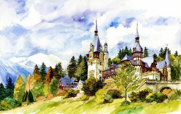 Mansion Wall Art - Painting - European Castle by ArtMarketJapan