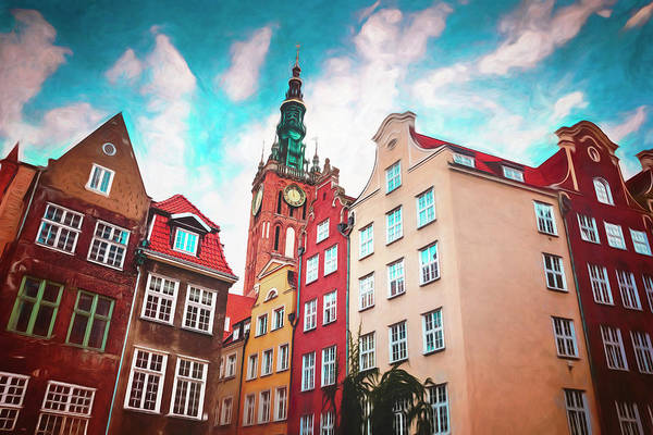 Wall Art - Photograph - European Street Scenes Gdansk Poland by Carol Japp