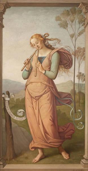 Painting - Euterpe, Muse Of Poetry by Egide Godfried Guffens
