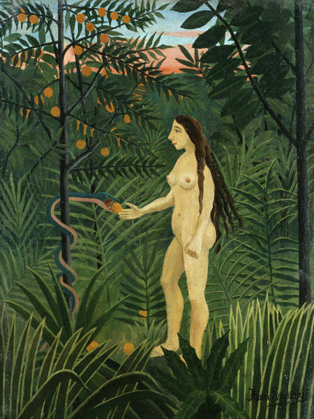 Wall Art - Painting - Eve by Henri Rousseau