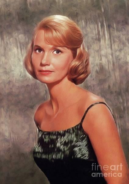 Wall Art - Painting - Eva Marie Saint, Vintage Actress by John Springfield