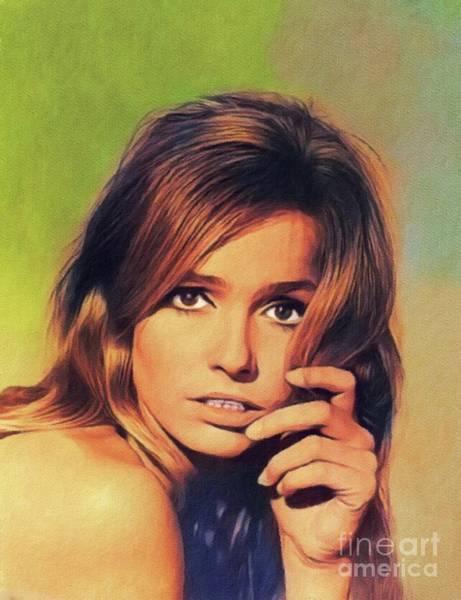 Wall Art - Painting - Eva Renzi, Vintage Actress by John Springfield
