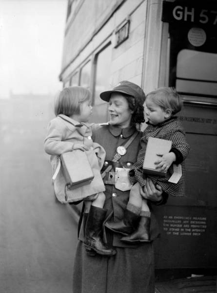 2 Photograph - Evacuee Bus by Parker