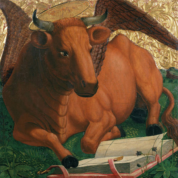 Wall Art - Painting - Evangelist's Symbol Ox by Michael Pacher