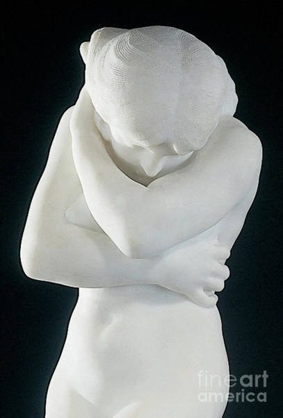 Wall Art - Sculpture - Eve After Fishing  Modesty by Auguste Rodin