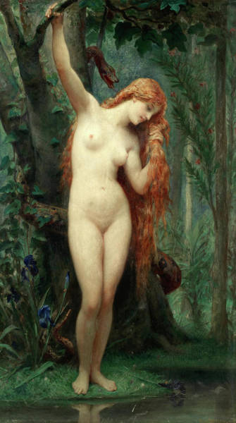 Wall Art - Painting - Eve by Felix Joseph Barrias