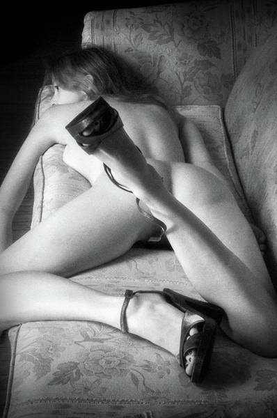 Wall Art - Photograph - Eve On Stomach On Couch by Lindsay Garrett