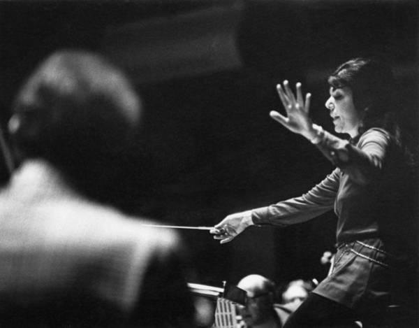 Photograph - Eve Queler Conducts by Erich Auerbach