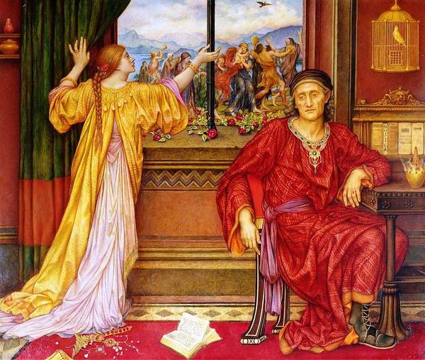 Roost Painting - Evelyn De Morgan  1855-1919  The Gilded Cage - 1905 10 by Celestial Images