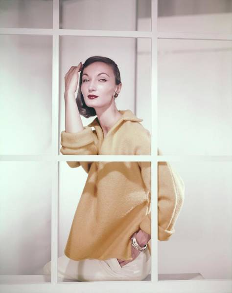 Photograph - Evelyn Tripp Wearing Amco by Horst P. Horst