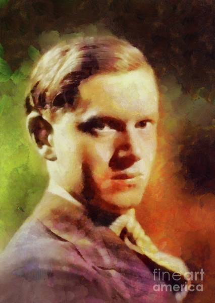 Wall Art - Painting - Evelyn Waugh, Literary Legend by Sarah Kirk