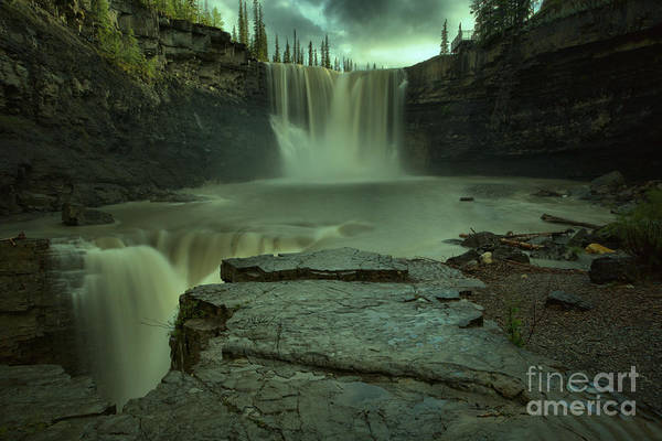 Photograph - Evening At Crescent Falls by Adam Jewell