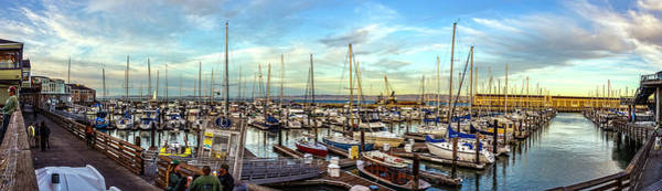 Photograph - Evening At Pier 39 Marina Panorama by Greg Reed