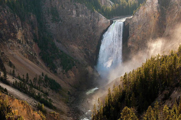 Photograph - Evening At The Lower Falls by Steve Stuller