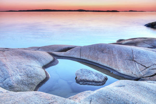 Archipelago Photograph - Evening At The Swedish Coastline by Martin Wahlborg