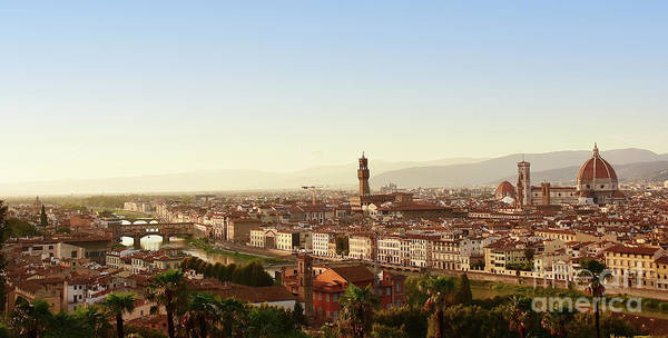 Wall Art - Photograph - Evening Atmosphere Over Florence by Petra Koehler Rose