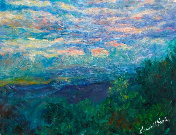 Painting - Evening Blue Ridge Light Stage One by Kendall Kessler