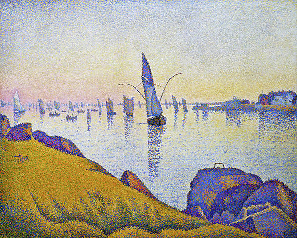 Neo-impressionism Wall Art - Painting - Evening Calm, Concarneau - Digital Remastered Edition by Paul Signac