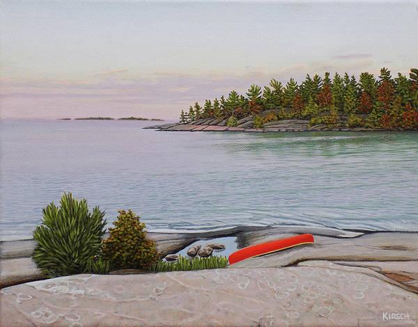 Wall Art - Painting - Evening Calm II by Kenneth M Kirsch