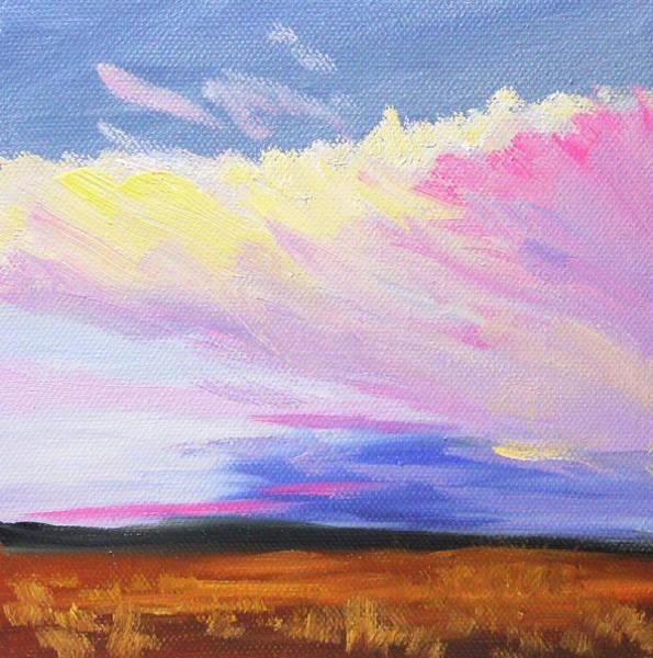 Wall Art - Painting - Evening Cloud by Nancy Merkle