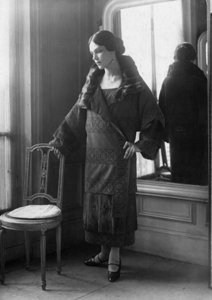 Evening Wear Photograph - Evening Coat by Seeberger Freres