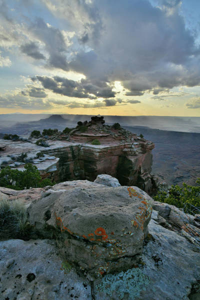 Photograph - Evening Comes To Canyonland's Orange Cliffs by Ray Mathis