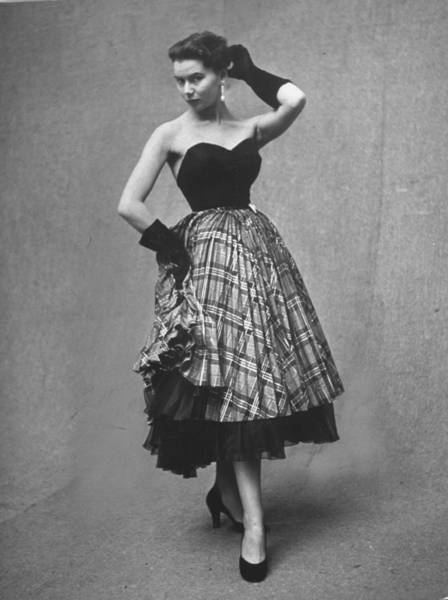 Apron Photograph - Evening Dress By Designer Jean Desses by Gordon Parks