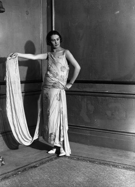 Fashion Model Photograph - Evening Dress by W. G. Phillips